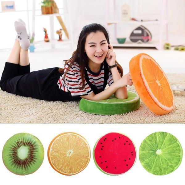 Fruit Products Mail: Fruit Slice Decorative Floor & Chair Cushion- 4 Styles
