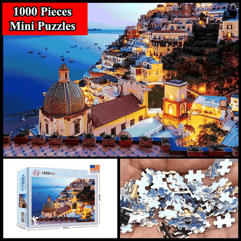 """Amalfi Coast"" 1000 Pieces Mini Jigsaw Puzzles"