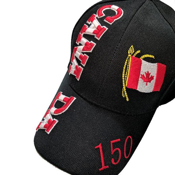 Apparel - Canada 150th Anniversary Flag Stitched & Embroidered Baseball Cap - 4 Colours Available!