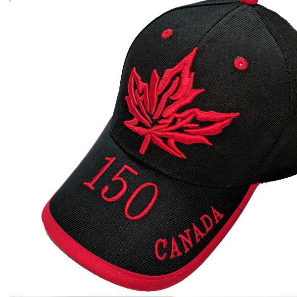 Apparel - Canada 150th Anniversary True North Maple Leaf Stitched & Embroidered Baseball Cap - 4 Colours Available!