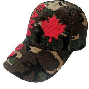 Apparel - Canada Limited Edition Camo Solid Maple Leaf Stitched & Embroidered Baseball Cap