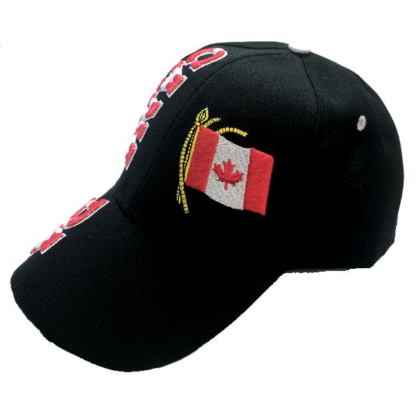 Apparel - Canada Limited Edition Flag Stitched & Embroidered Baseball Cap - 4 Colours Available!