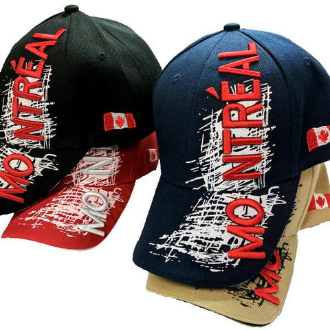 Apparel - Canada Limited Edition X-Treme Montreal Scribble Logo Stitched & Embroidered Baseball Cap - 4 Colours Available!
