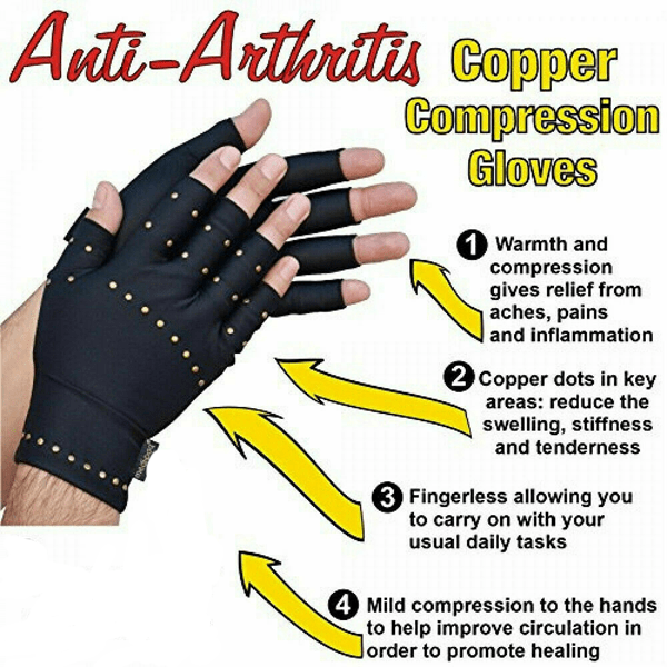 Buy 1 Get 2 Free - Copper-Infused Compression Gloves