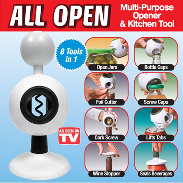 As Seen On TV - All Open 8 In 1 Multi-purpose Opener & Kitchen Tool