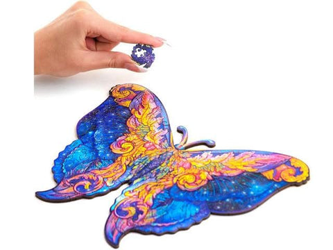 """Mystery Butterfly"" - Unique Shaped Wooden Jigsaw Puzzle"