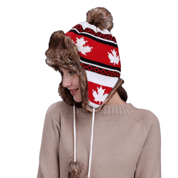 6 Pieces, 12 Pieces or 24 Pieces Canada Flag Thermal Eskimo Hats