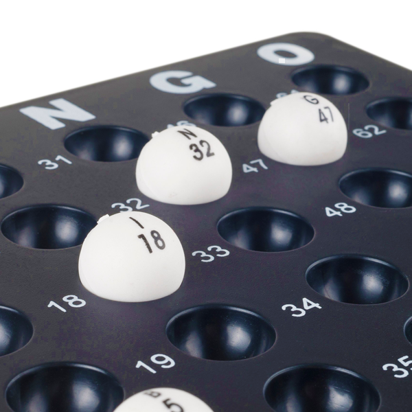 """Bingo Balls Family Game"" Traditional Cage Card Counters Bingo Game Set"