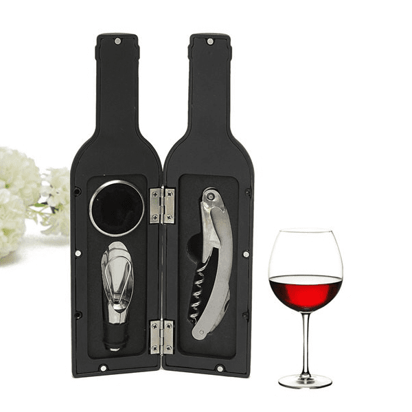 1 For You 1 For Gift - Novelty Bottle Shaped Wine Tool Gift Set