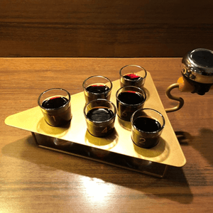 Brick Trowel Shot Server With 6 Shooter Glasses