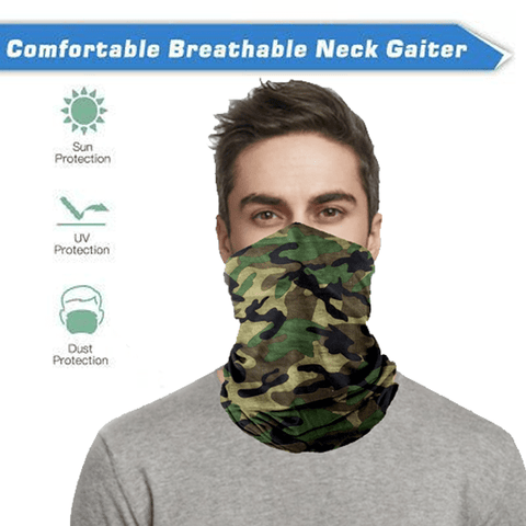 2 Piece: Neck Gaiter Bandana Face Mask