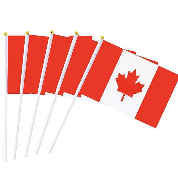 12 Pieces, 24 Pieces, or 36 Pieces Hand-Held Canada Flags