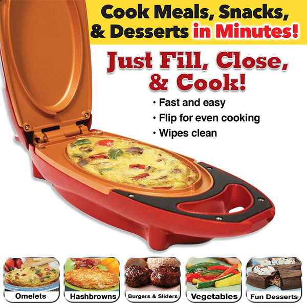 """Fill, Close & Cook"" Electric Copper Infused Ceramic Cooker"