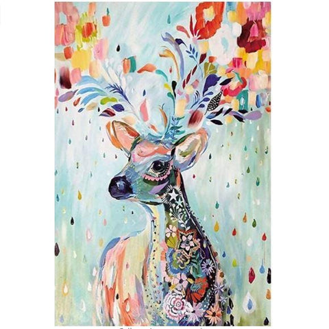 """Colorful Deer"" - 1000 Pieces Jigsaw Puzzles"