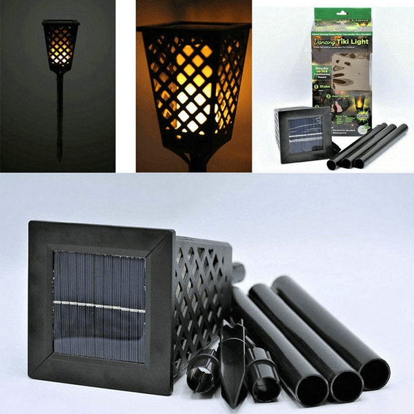 """Flameless Adjustable Dancing Tiki Light"" Great Landscape Lighting System For Outdoor And Garden"