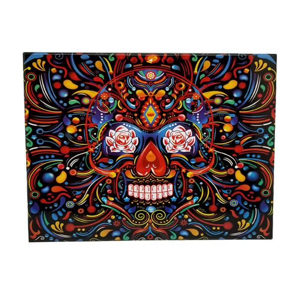 Decor - Calavera Mexican Sugar Skull Vintage Collectible Metal Wall Decor Sign