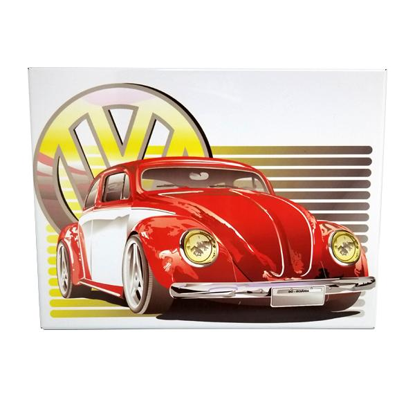 Decor - Classic Red Beetle Vintage Collectible Metal Wall Decor Sign