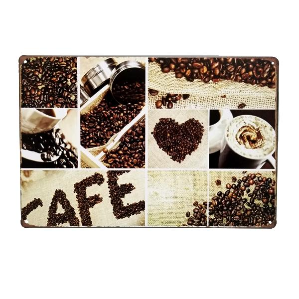 Decor - Coffee Lover Vintage Collectible Metal Wall Decor Sign