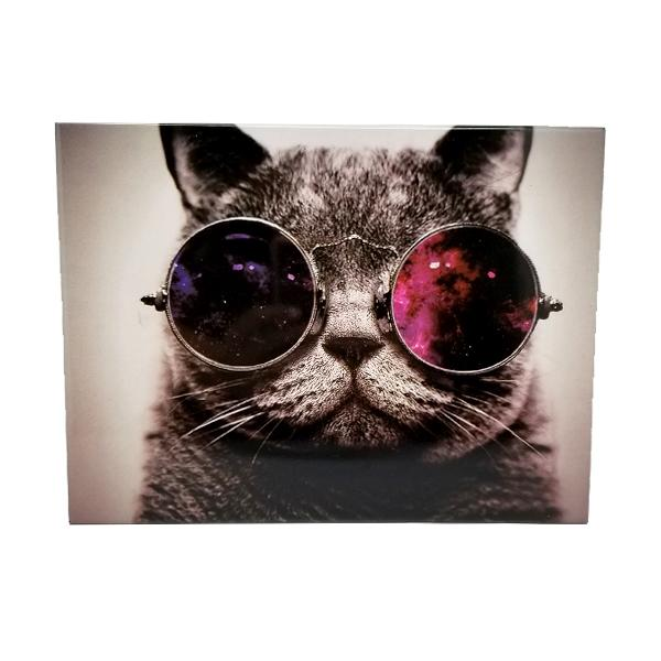 Decor - Cool Cat With Retro Sunglasses Vintage Collectible Metal Wall Decor Sign