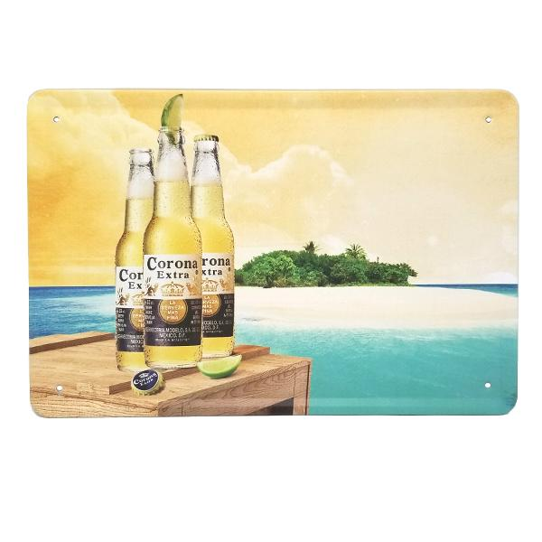 Decor - Corona By The Beach Vintage Collectible Metal Wall Decor Sign