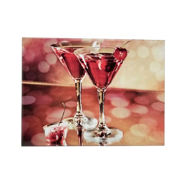 Decor - Cosmopolitan Cocktail Love Vintage Collectible Metal Wall Decor Sign