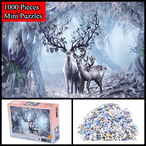 """House of Reindeer"" 1000 Pieces Mini Jigsaw Puzzles"