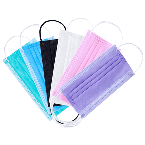 10 Pieces Disposable Face Masks Assorted Colors