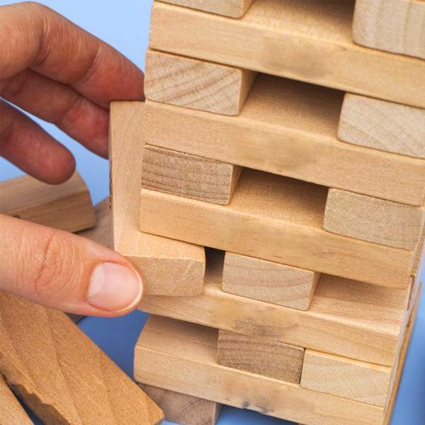 Jenga Drinking Game With 4 Shot Glasses