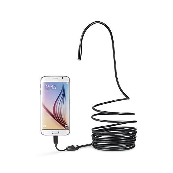 Electronics - Waterproof 6-LED Borescope Camera For Android And PC
