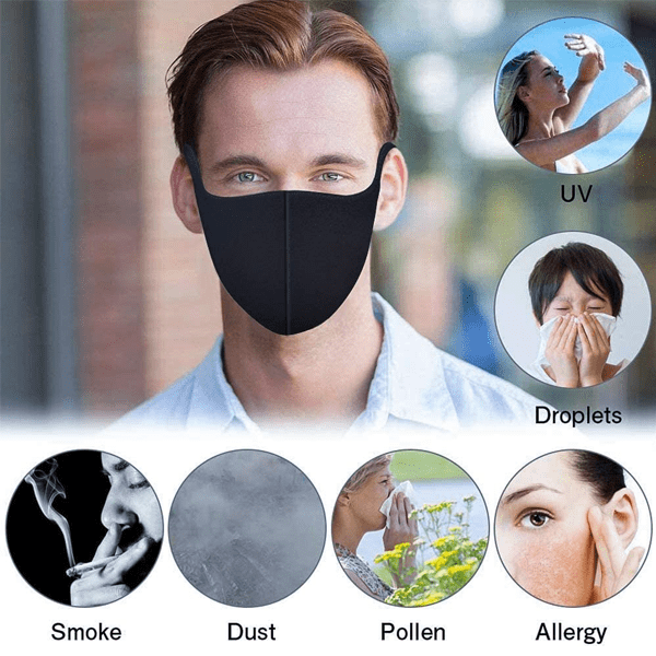 Dustproof Reusable Fashion Face Mask - Multi Packs Available