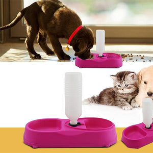 Pet Bowl With Water Dispenser