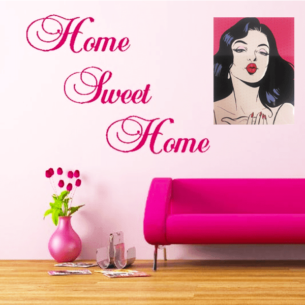 """Vintage Bombshell Beauty"" Metal Wall Decor With Pre-Drilled Holes"
