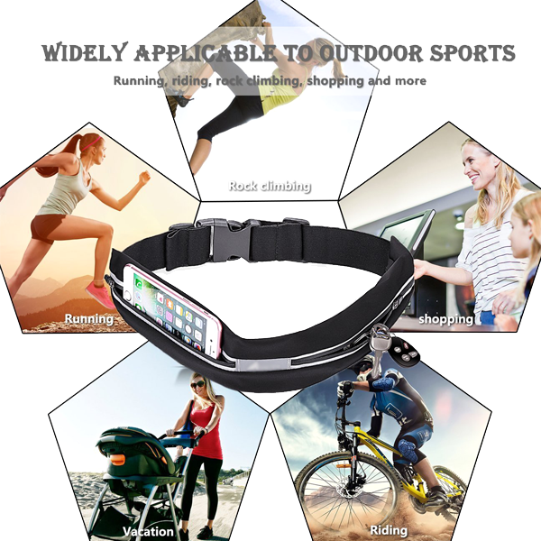 Hands-Free Dual Pocket Stretchable Belt Pouch