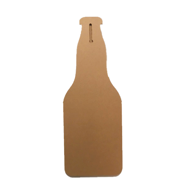 """Good Evening With Good Beer"" Bottle Shaped Wall Mount With Bottle Opener 16"" X 6"""