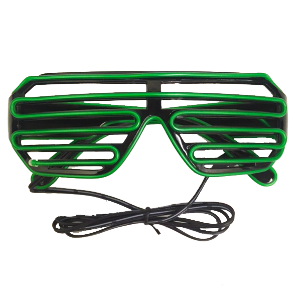 """Vegas Nights Party LED Disco Glasses""- Assorted Colors"