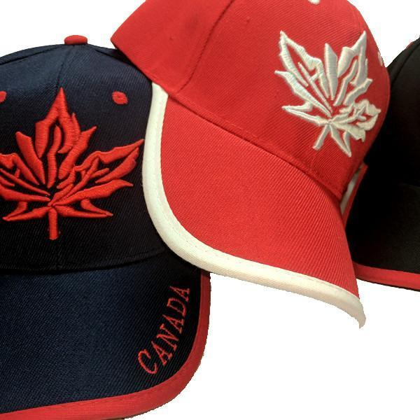 Limited Edition Canadian Dream Tri-Colour Maple Leaf Stitched & Embroidered Baseball Cap - 4 Colours Available!
