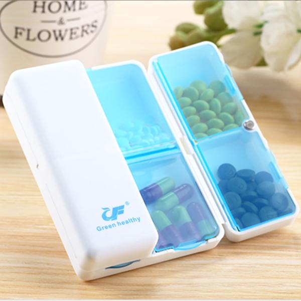 Health - 7-Slot Magnetic Foldable Travel Medicine Box