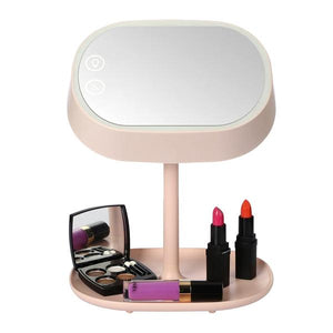 Health & Beauty - 3-in-1 LED Vanity Lamp & Makeup Mirror With Accessory Tray