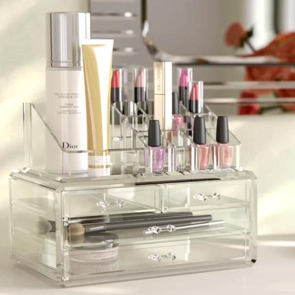 Health & Beauty - Acrylic 4-Drawer Jewelry & Cosmetic Organizer