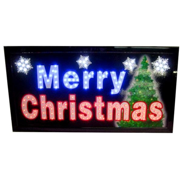 "Holiday - ""Merry Christmas"" Festive LED Holiday Decor Sign"
