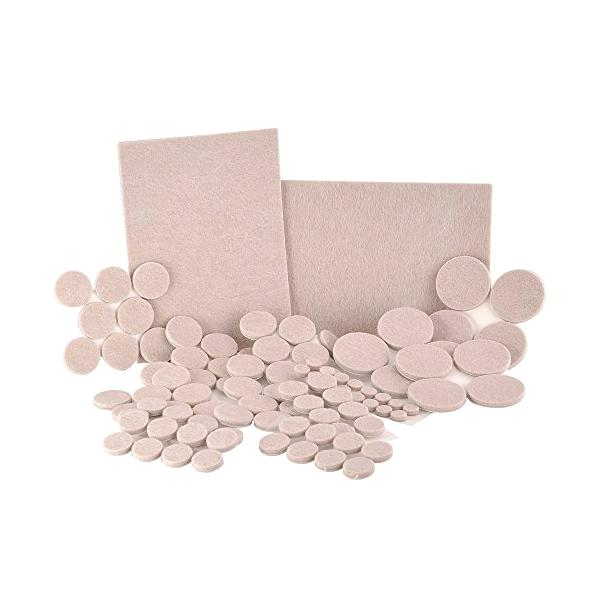 Home - 102-Piece Set: Furniture & Surface Protector Soft-Touch Felt Pads In Assorted Sizes