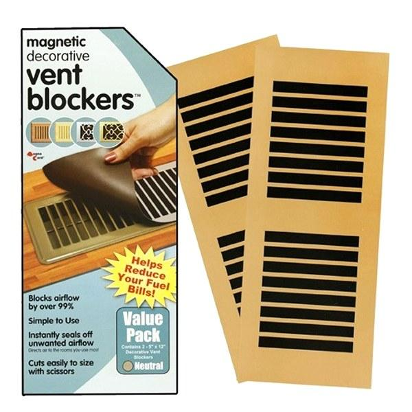 Home - 2 Pack: Magnetic Decorative Vent Blockers