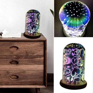 Home - 3D Magic Glass Starburst LED USB-Powered Desk & Night Light - Assorted Styles
