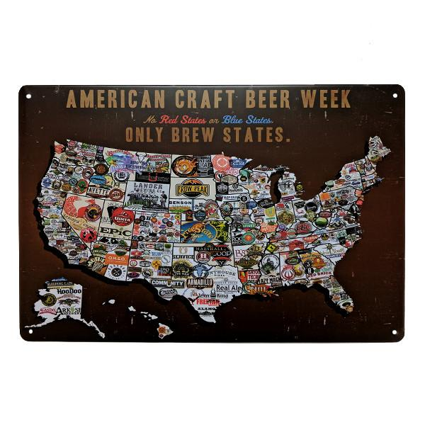 Home - American Craft Beer Vintage Collectible Metal Wall Decor Sign