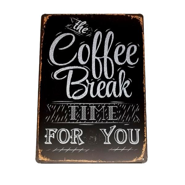 Home - Coffee Break Vintage Collectible Metal Wall Decor Sign