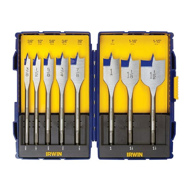 Home - IRWIN SPEEDBOR 8-Piece Spade Bit Set With Pro Set Case