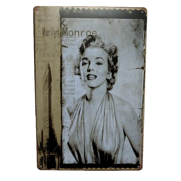 Home - Marilyn Building Pose Vintage Collectible Metal Wall Decor Sign