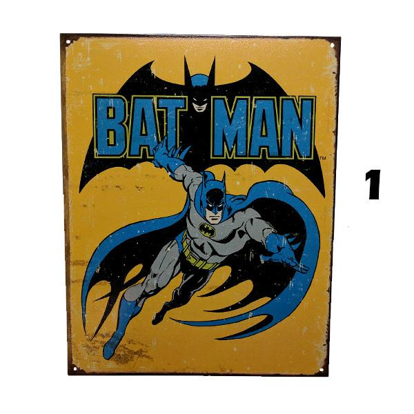"Home - Retro Batman Vintage Collectible Metal Wall Decor Sign - 16"" X 12.5"""