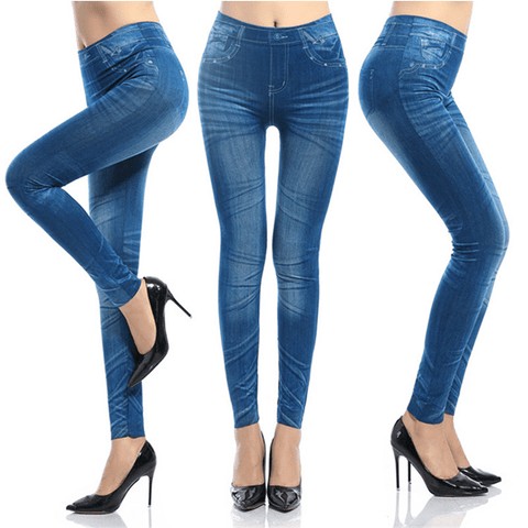 2 Pairs: Slim N' Lift Jeans - Available in Blue & Black