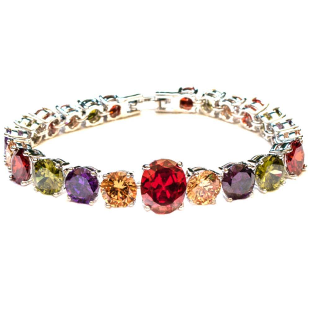 Jewellery - Colorful Charm Cubic Zircon Strand Bracelet & Bangle